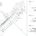 Regimentazione delle acque e stabilizzazione delle aree di Vampolieri in Acicatena - Planimetria e sezioni stratali