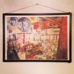 先日展示をしてくれた山田まさし氏が描いてくれたあけ/たて画。忠実。