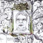 """""""Selbstbildnis"""" Zeichnung, Privatbesitz"""