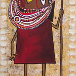 """Maasai"" Acry, Privatbesitz"