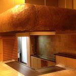 鉄板焼き 銅フード 座敷席上