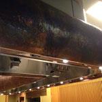 鉄板焼き 銅フード カウンター席上