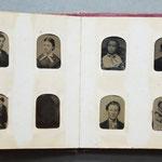 Album de ferrotypes (format de l'album 7x7 cm)