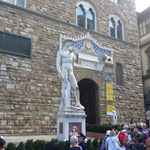 "der ""David"" vor dem ""Palazzo Vecchio"""
