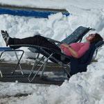 Erholung - nach einem anstrengenden ersten Skitag