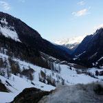 die Panoramastraße entlang des Stausees zum Kaunertaler Gletscher