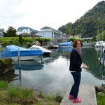 im Hafen von Stansstad am Vierwaldstäter See