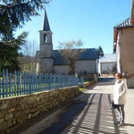 der Kirchturm von Le Vernet