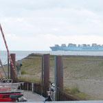 Auf dem Weg zum Weser-Jade Port
