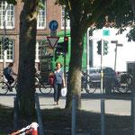 Zurück vom Einkaufsbummel durch Münster