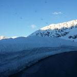 Ankunft auf 2700m - der Gletscherparkplatz