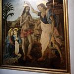 Andrea del Verrocchio, Leonardo da Vinci:  Taufe Christi