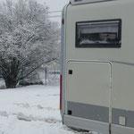 Schneefall im Westerwald