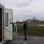 auf dem Stellplatz in Bad Windsheim