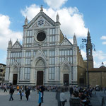 "vor der Kirche ""Santa Croce"""