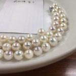 実験でのアルコール浸潤後の真珠