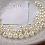 実験でのシミ抜き漂白完了ここまでが無調色真珠