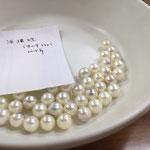 浜揚げされたばかりの真珠の一部