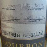 Single Bourbon Cask 700, 11.06.1998/29.10.2008, 56,5%, 223 bottles
