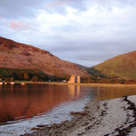 Lochranza Bay at sunset