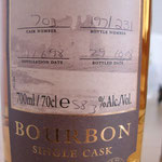 Single Bourbon Cask 703, 11.06.1998/29.10.2008, 58,3%, 231 bottles