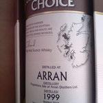 Arran Connoiseurs Choice Gordon & MacPhail, 1999/Dez. 2010, 43%