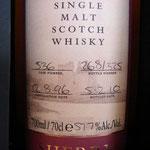 Arran Single Sherry Cask, cask 536, 12.08.1996, bottled 05.02.2010, 57,7%, 325 bottles