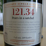 SMWS cask 121.34, Pears in a satchel, 55,4%, 309 bottles, 10 years