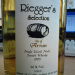 Riegger's Selection, Single Cask, dist. 28.12.1995, bottled 28.09.2009, 46%