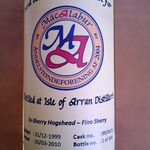 Single Cask Malt for MacAlabur, dist. 31.12.1999, bottled 20.03.2010, 366 bottles, cask 99/470, 57,5