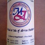 Single Cask Malt for MacAlabur, dist. 31.12.1999, bottled 20.03.2010, 366 bottles, cask 99/470, 57,5