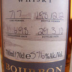 Single Bourbon cask 717, 11.06.1998/29.03.2010, 57,6%, 212 bottles