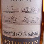 Single Bourbon cask 717, 11.06.1998/29.03.2010, 57,6%, 212 bottles