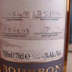 Single Bourbon cask 1549, 15.12.1998/07.07.2010, 54,5%, 126 bottles
