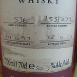 Single Sherry Cask 536, 14.04.1997/28.04.2010, 50,7%, 210 bottles