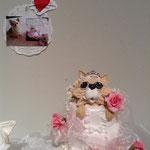 娘さんの結婚式に初めてシュガークラフト作品製作。娘さんの愛犬モチーフ「キャリーちゃん」 C・Sさん