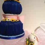 青が好き、ヒマワリ好きの2月の花嫁さんの作品です。 J・Nさん