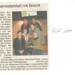 Kieler Nachrichten vom 15.02.08 (Claudia Beylage-Haarmann)
