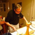 Jochen arbeitet schon an seinem Dessert
