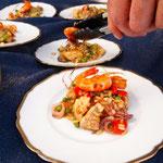 Paella mit Scampi