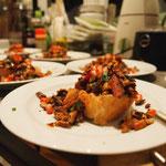 Pilz Bruschetta aus Steinpilzen und Pfifferlingen