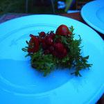 Fabians Asia Salat mit Walderdbeeren