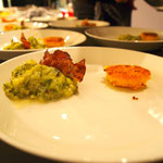 Zucchini Fondue mit Polenta...