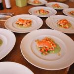 Lachs Sashimi vom schottischen Lachs