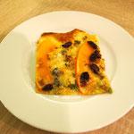 Flammkuchen mit Kürbis und Roquefort