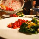 Rote Bete Tarte (naja, eher Labskaus!) mit Feldsalat