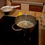 Vorbereitungen für den ersten Abend