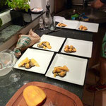 Aubergine mit Papaya