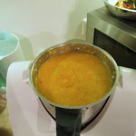 Maiks Kartoffelsuppe ist schon fertig
