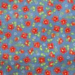 blau mir corallfarbenen Blumen